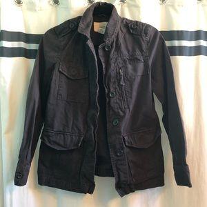 J. Crew Classic Twill Chino Jacket (Charcoal Plum)